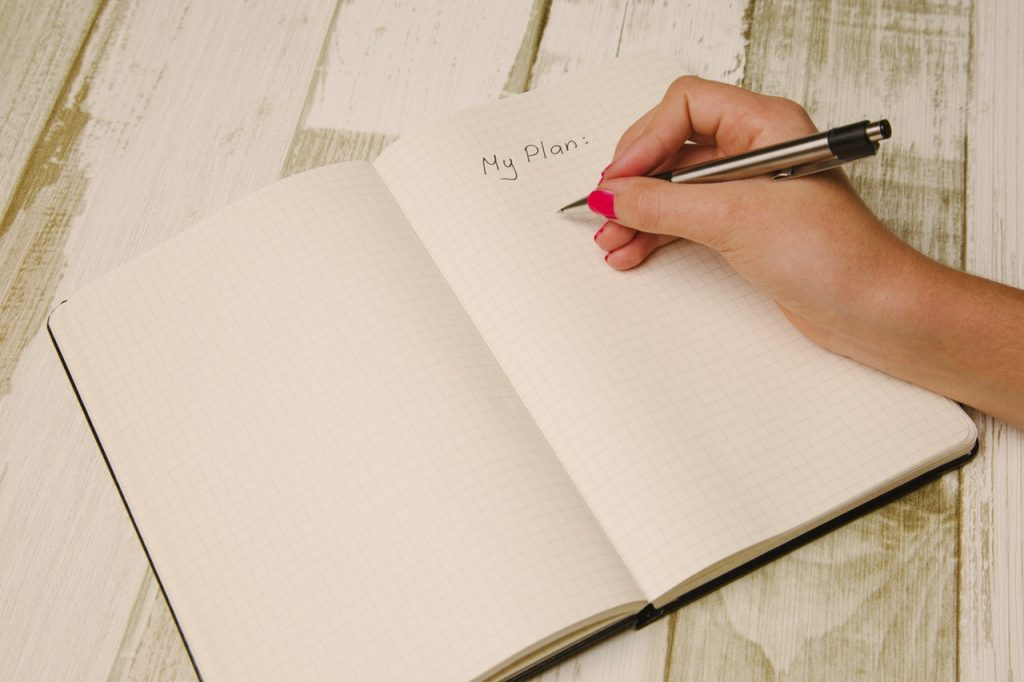 Write Goals on White Ruled Paper